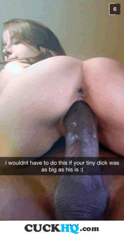 cuckold small penis snapchat humiliation